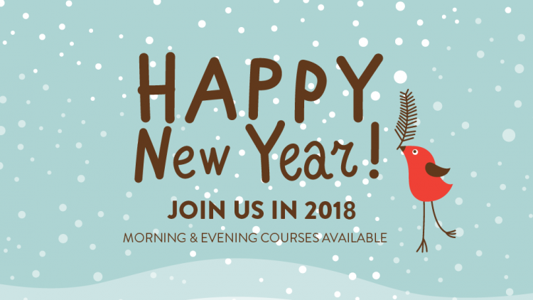 We'd like to wish all our students a very happy 2018!